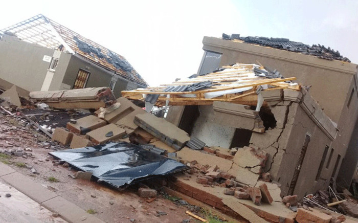 FILE: A damaged home following a hailstorm in Johannesburg on 30 December 2017.  Picture: Supplied.