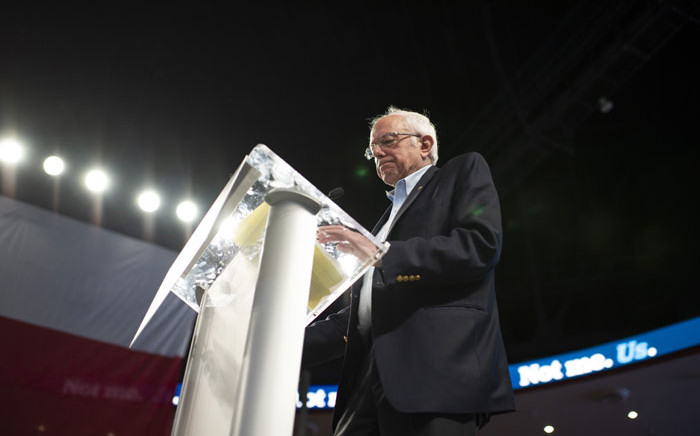 Democratic presidential hopeful Vermont Senator Bernie Sanders speaks during a rally at Houston University in Houston, Texas on 23 February 2020. Picture: AFP