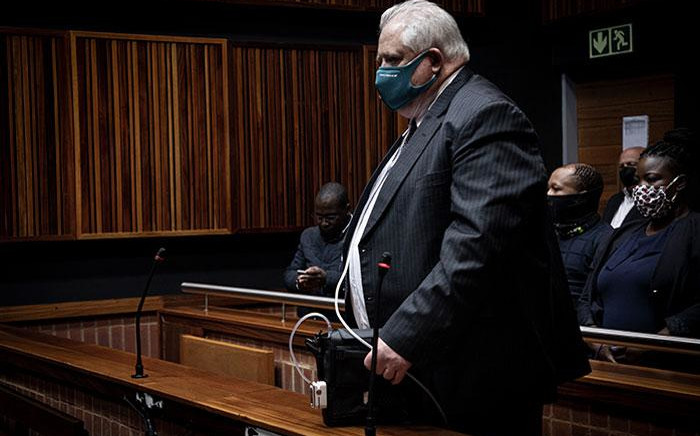 Former Bosasa COO Angelo Agrizzi appears in the Palm Ridge Magistrates Court on 14 October 2020. Agrizzi was denied bail in his corruption and bribery case. Picture: Xanderleigh Dookey/EWN
