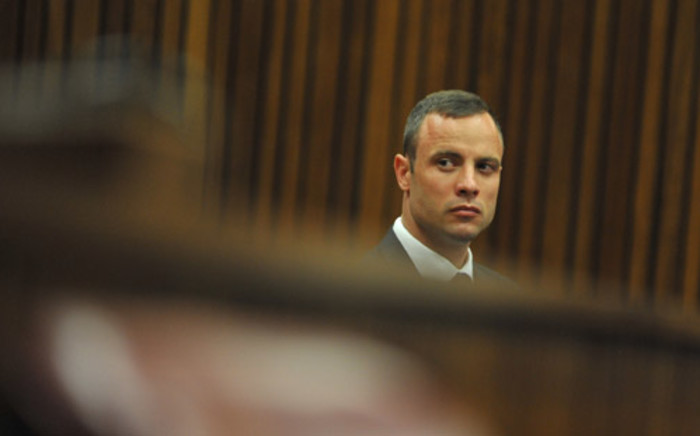 Oscar Pistorius during his murder trial at the North Gauteng High Court in Pretoria on 24 March 2014. Picture: Pool.