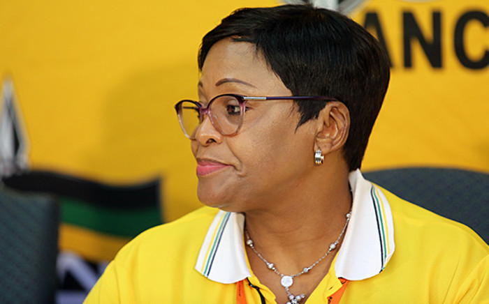 FILE: Minister of Water Affairs and Sanitation Nomvula Mokonyane speaking in her capacity as the ANC's campaign head at the party's National General Council on 11 October 2015. Picture: EWN.