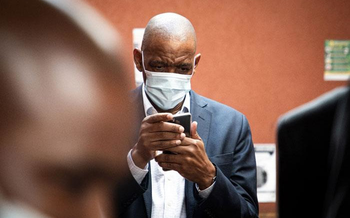 ANC secretary-general Ace Magashule appears in the Bloemfontein Magistrates Court for his fraud, corruption and money laundering case on 19 February 20201. Picture: Xanderleigh Dookey-Makhaza/Eyewitness News