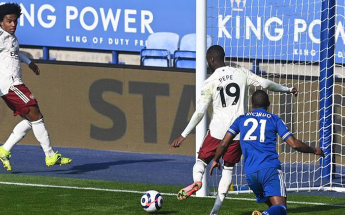 Arsenal delivered a hammer blow to Leicester's faint hopes of winning the Premier League with an impressive fightback to win 3-1. Picture: Twitter @Arsenal.