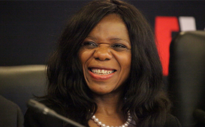 Public Protector Thuli Madonsela enjoys a lighter moment during the EWN/Wits Nkandla Discussion, Johannesburg, 20 March 2014. Picture: Aletta Gardner/EWN.