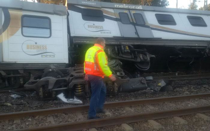 A train crash in Elandsfontein. Picture: Twitter/@EWNTraffic