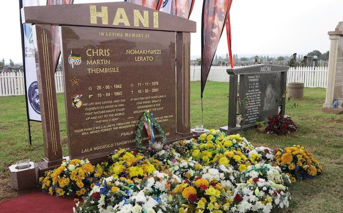 Chris Hani Gravestone on the 24th anniversary of his assassination. Picture: Louise McAuliffe/EWN