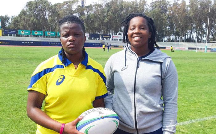 Springbok Women twins Chuma and Chumisa Qawe. Picture: SA Rugby.
