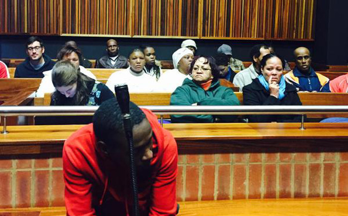 FILE. Convicted killer Nathaniel Mpoku sits in the Palm Ridge Magistrate Court during his sentencing on 5 June 2015. Picture: Aurelie Kalenga/EWN.
