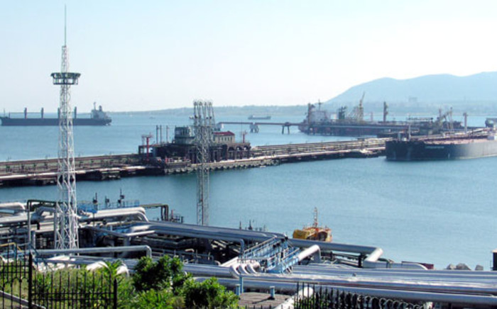 The oil harbor in Novorossiysk, the southern Russian seaport town in the Black Sea territory. Picture: AFP