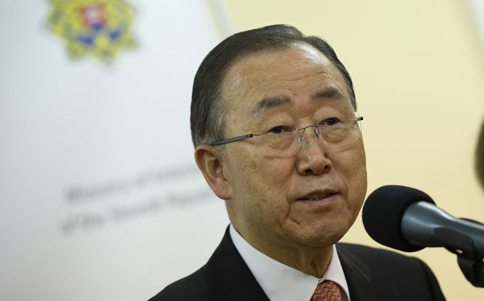 FILE: United Nations Secretary-General Ban Ki-moon. Picture: AFP.