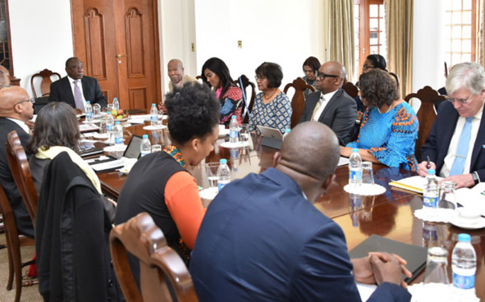 FILE: President Cyril Ramaphosa meets the National Planning Commission on 6 August 2019. Picture: @PresidencyZA/Twitter