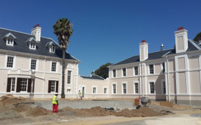 Workers renovate a forecourt at the Valkenberg Psychiatric Hospital. Picture: westerncape.gov.za