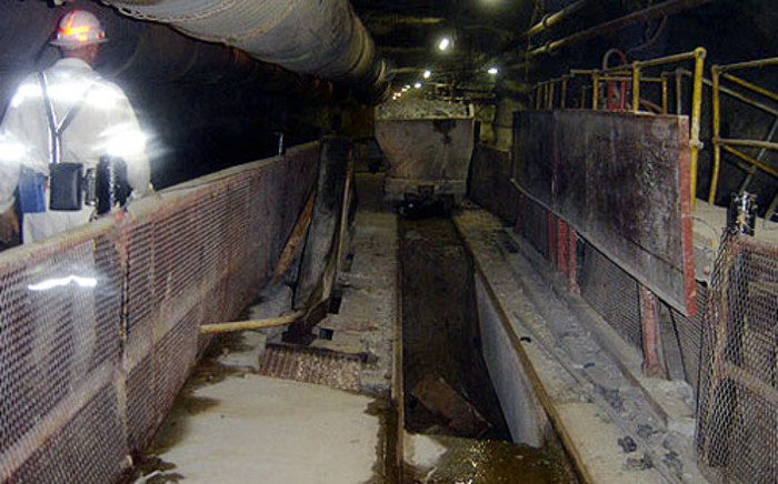 Inside one of the tunnels of Harmony Gold's Doornkop shaft. Picture: Harmony Gold
