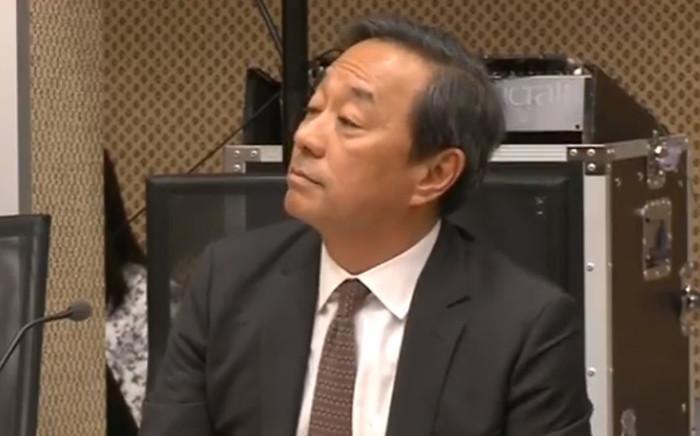 A screengrab of Bain's Stuart Min during the Sars inquiry in Pretoria. Picture: YouTube