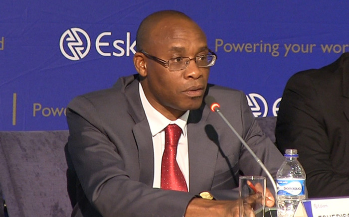 Eskom CEO Tshediso Matona at a media briefing in Johannesburg on 08 December 2014 on the state of South Africa's electricity system. Picture: Reinart Toerien/EWN
