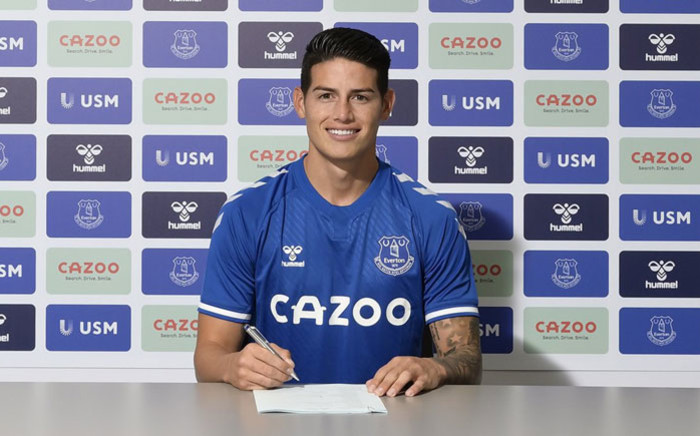 Colombia footballer James Rodriguez has signed for Everton. Picture: @jamesdrodriguez/Twitter