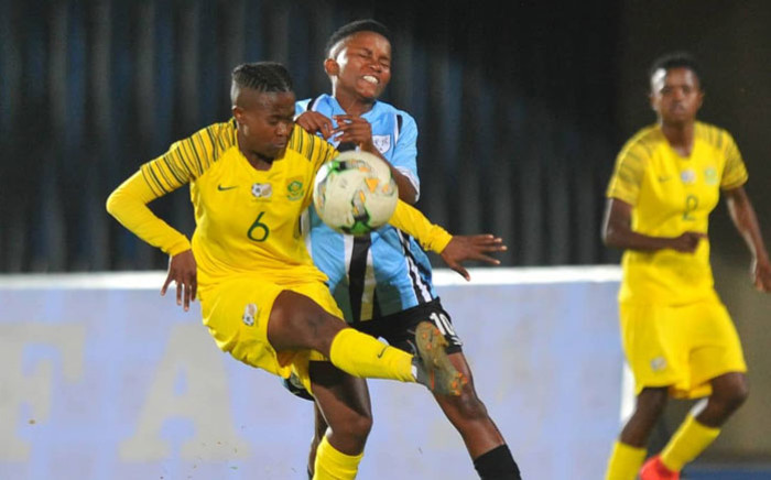South Africa and Botswana play each other in their Olympic qualifier at National Stadium in Gaborone, Botswana on 30 August 2019. Picture: @Banyana_Banyana/Twitter