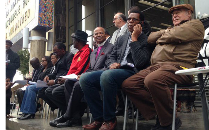 Civil society leaders gathered at Con Court to launch a campaign for President Jacob Zuma's removal. Picture: Dineo Bendile/EWN