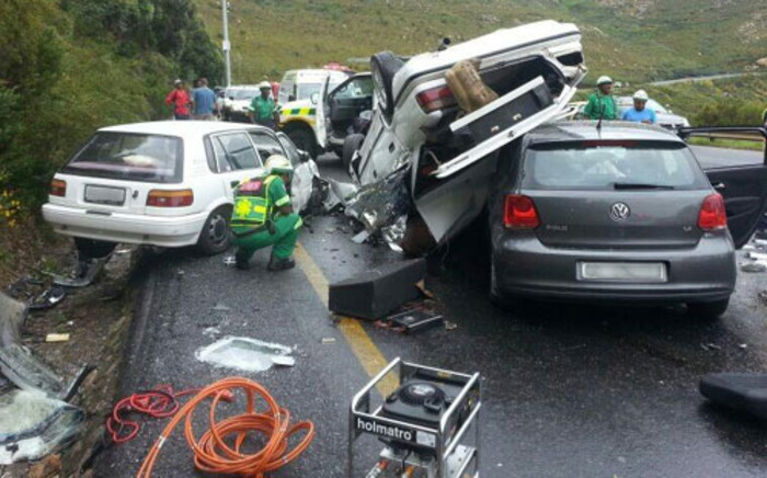 Three people have been killed in an accident on Sir Lowry's Pass. Picture: Supplied