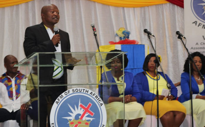 ANC deputy president David Mabuza at the Apostolic Faith Mission Church in Parys on 19 April 2019. Picture: @MYANC/Twitter