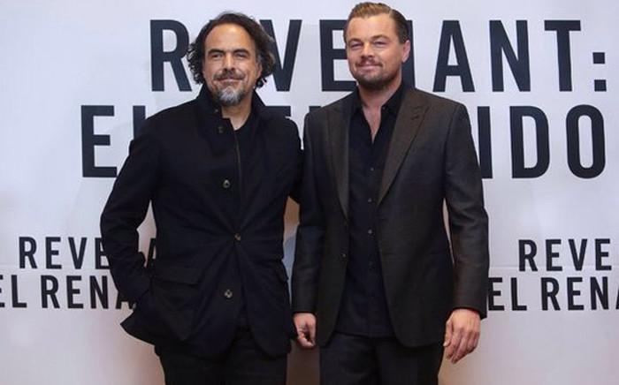 FILE: The Revenant' Director Alejandro Inarritu and the film's star actor Leonardo DiCaprio. Picture: @aginarritu.