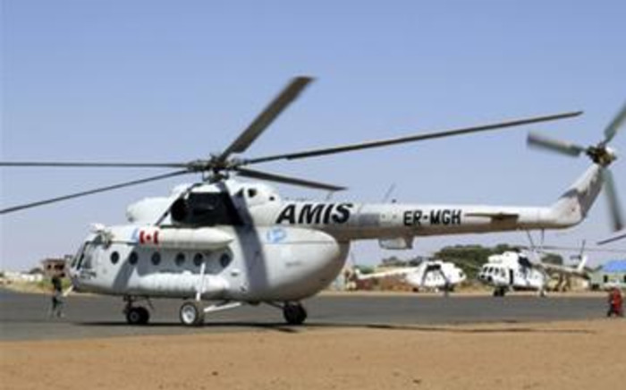 A UN Aid helicopter
