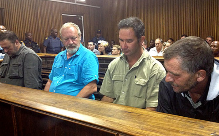 A group of men accused of plotting to bomb a tent at the ANC's Mangaung conference appeared in the Bloemfontein Magistrate's Court on 18 December 2012. Picture: Matshidiso Madia/EWN