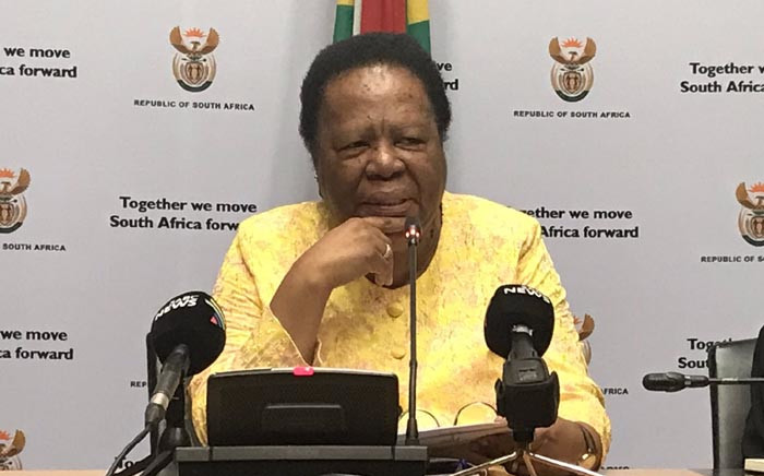 Higher Education Minister Naledi Pandor updates media on the National Student Financial Aid Scheme applications for 2019. Picture: Lindsay Dentlinger/EWN
