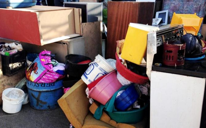 File: The belongings of evicted residents lie in a pile. Picture: EWN.