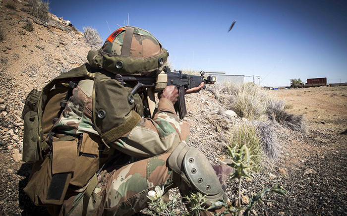 SANDF troops take part in war games to prepare for active combat. Picture: Thomas Holder/EWN