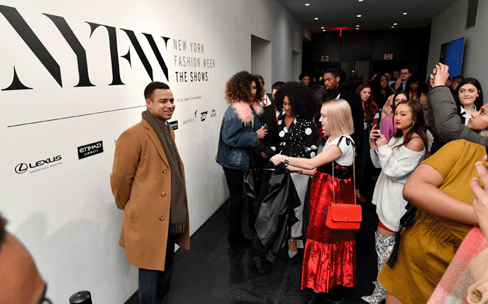 Guests attend New York Fashion Week: The Shows at Spring Studios on February 14, 2018 in New York City. Picture: AFP.