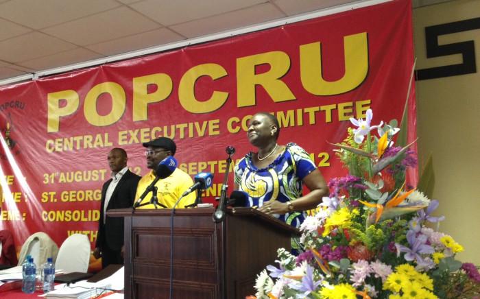 National Police Commissioner Riah Phiyega addressed Popcru in Centurion, 1 September 2012. Picture: Govan Whittles/EWN.