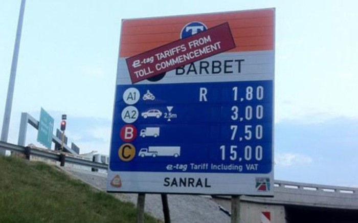 Tolls sign. Picture: Supplied.