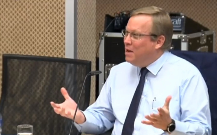 A video screengrab of acting Sars Commissioner Mark Kingon giving his testimony at the Nugent Commission of Inquiry in Pretoria on 19 October 2018. Picture: YouTube.