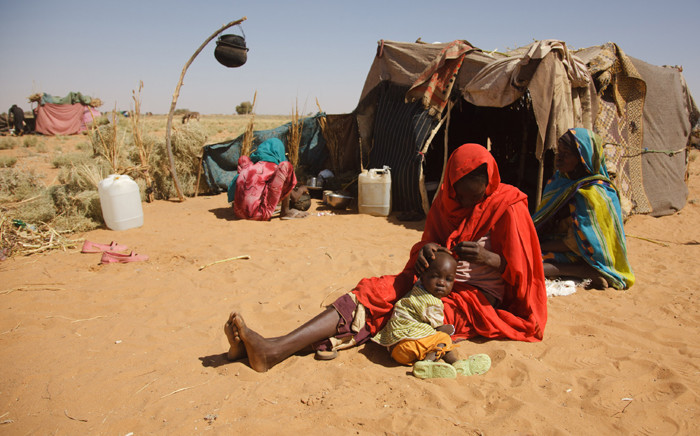 A file picture shows Sudanese Internally Displaced Persons (IDP) who fled their village, following clashes between the Government of Sudan and rebel movements at Zamzam IDP camp, North Darfur, Sudan, 15 March 2011. Picture: EPA/Olivier Chassot.