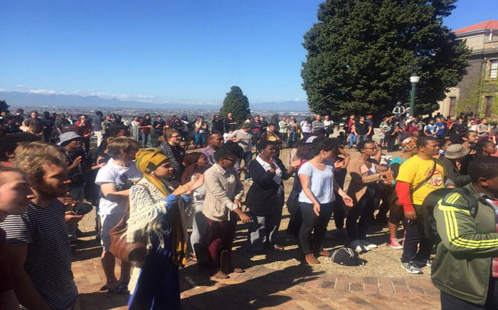 FILE:Rhodes Must Fall members are gearing up to hand over a new list of demands to management. Picture: Masa Kekana/EWN.