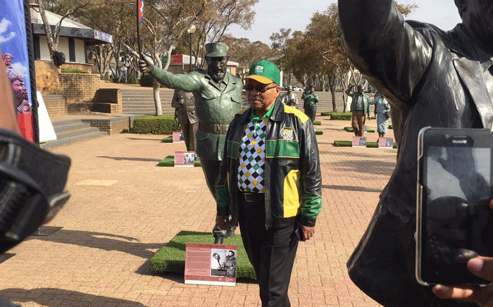 President Jacob Zuma pictured at Nasrec on day four of the ANC's policy conference. Picture: Masa Kekana/EWN