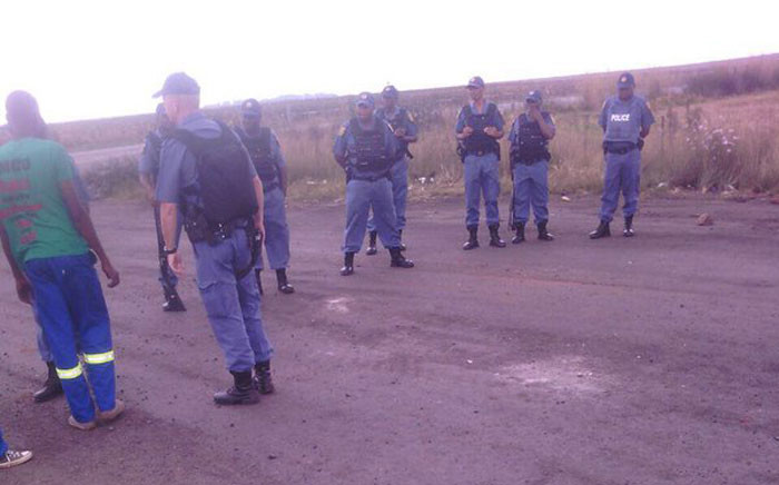 Bidvest Security reportedly shot at Amcu members as they were protesting on wages at Shanduka Mine. Picture: Twitter @_AMCU.