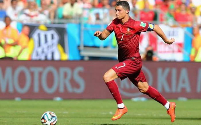 Cristiano Ronaldo of Portugal controls the ball during the 2014 FIFA World Cup Brazil Group G match between Germany and Portugal at Arena Fonte Nova on 16 June, 2014 in Salvador, Brazil. Picture: Fifa.