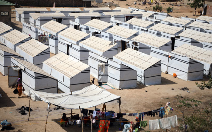 FILE: An aerial view of an Internally Displaced Persons Camp in Anka, near Gusau, on 4 December 2019. Picture: AFP