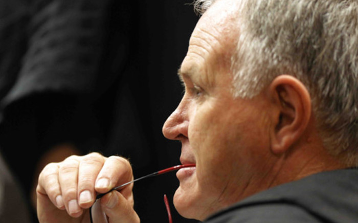 Advocate Barry Roux, Oscar Pistorius's legal representative, on the second day of the murder trial at the High Court in Pretoria. Picture: Pool.