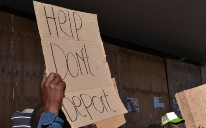 FILE: Refugees protesting against the reception centre in Maitland. Picture: EWN.