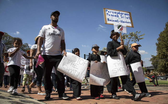 Residents of Westbury and surrounding areas march against crime. Picture: Thomas Holder/EWN