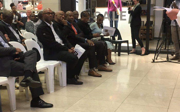 Former Deputy Finance Minister Mcebisi Jonas seated among guests at the launch of his book 'After Dawn: Hope After State Capture'. Picture: Kgomotso Modise/EWN.