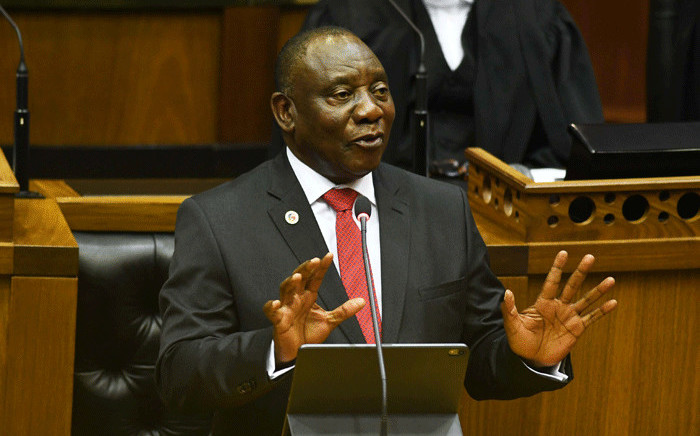President Cyril Ramaphosa delivers the State of the Nation Address (Sona) in a joint sitting of Parliament on 20 June 2019. Picture: GCIS