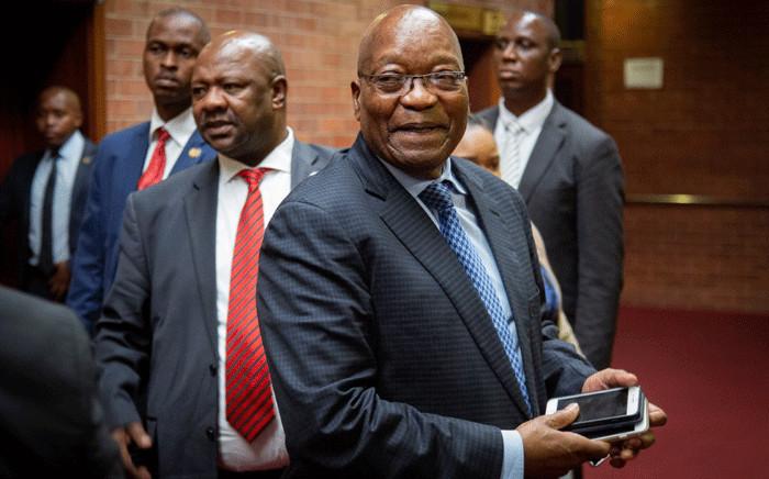 Former President Jacob Zuma at the KwaZulu-Natal High Court in Pietermaritzburg on 21 May 2019. Picture: Sethembiso Zulu/EWN