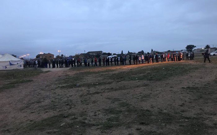 A queue seen on voting day on 8 May 2019 in Paarl. Picture: Shamiela Fisher/EWN