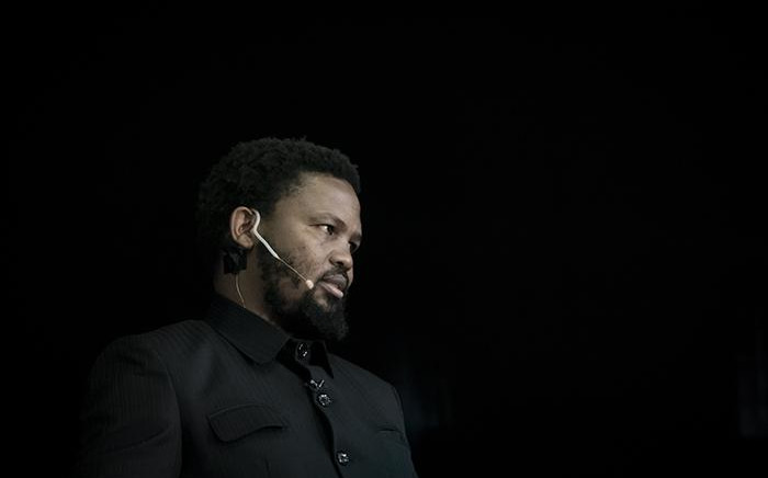 BLF leader Andile Mngxitama at the BLF manifesto launch in Soweto. Picture: Xanderleigh Dookey/EWN