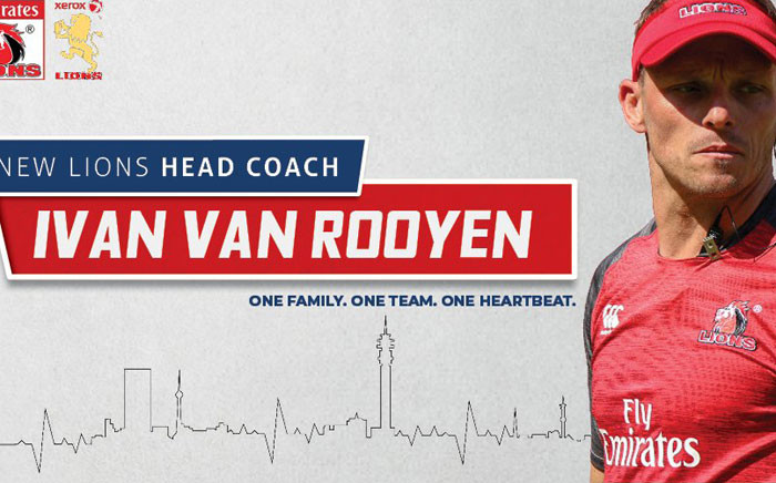 Ivan Meyer has been named as the new Lions coach. Picture: @LionsRugbyCo/Twitter