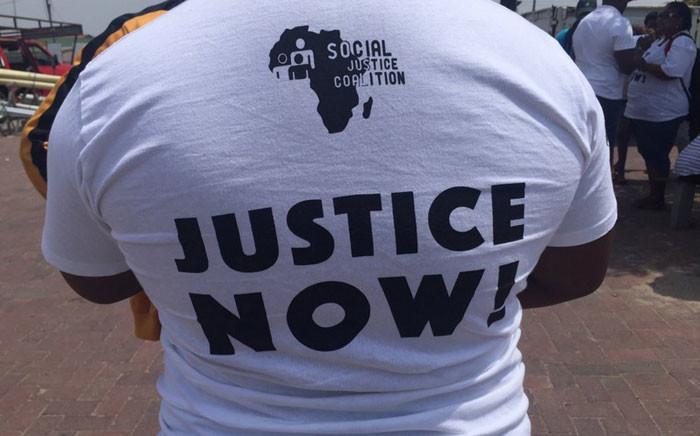 Dozens of people protested against gender-based violence in Khayelitsha on Friday 4 December 2015.